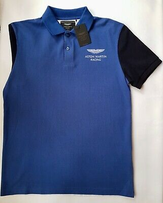 New Hackett Aston Martin Polo Shirt Middle Blue Size M • 38£
