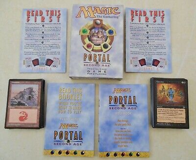 Magic The Gathering Portal Second Age Trading Card Game Set (used) • 7£