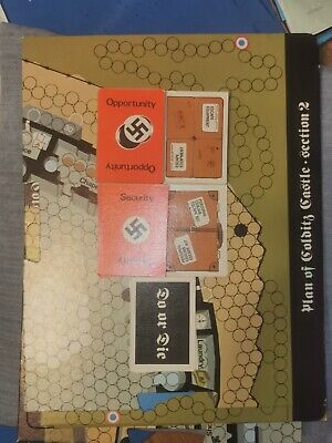 Escape From Colditz (Complete Board + All Cards -2 Opportunity Cards) [Vintage] • 21£