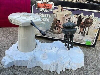 $ CDN112.63 • Buy Vintage Star Wars ESB Hoth Turret And Imperial Droid Playset Complete With Box