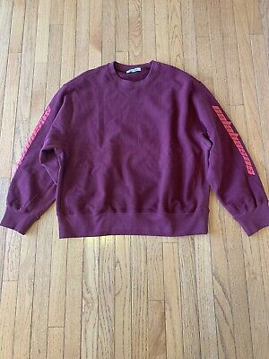 $ CDN210.54 • Buy NEW! Yeezy Season 4 Calabasas Crewneck Red Without Tags Purchased From Nordstrom
