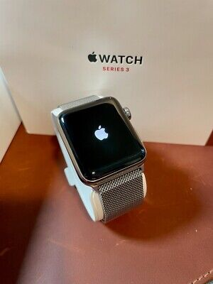 $ CDN182.86 • Buy Apple Watch Series 3 42mm Stainless Steel Case With Milanese Loop (GPS+cellular)