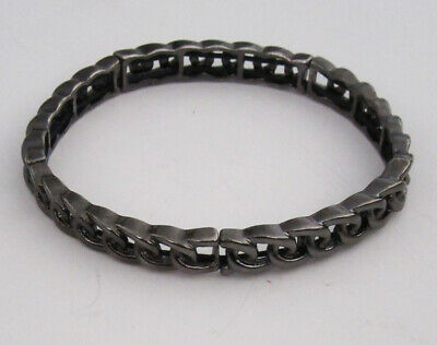 $ CDN0.48 • Buy Lia Sophia Jewelry Interlink Stretch Bracelet In Hematite RV$38