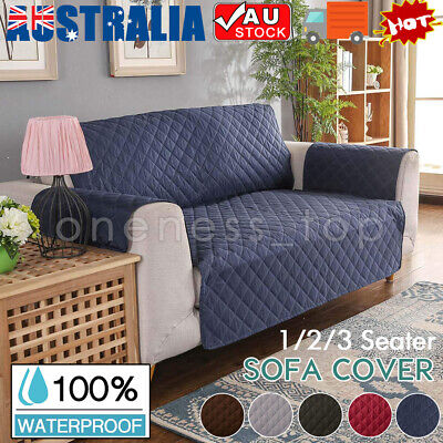 AU20.85 • Buy Sofa Cover Quilted Couch Covers Lounge Protector Slipcovers 1/2/3 Seater Pet Dog