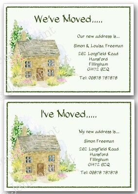 Personalised Change Of Address, House Moving New Address New Home Cards X10 J481 • 3.75£