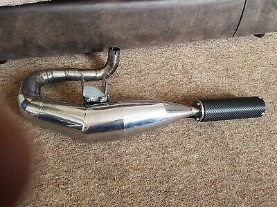 Vespa Px 125 Sterling Exhaust Carbon End :-) • 74£