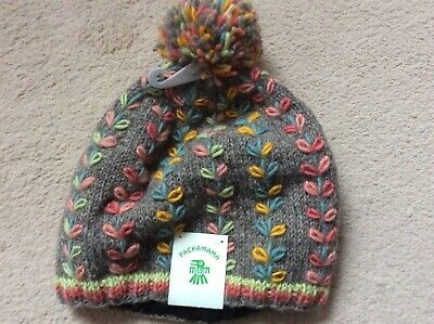 Wool Bobble Hat -  By Pachamama - New With Tags • 9.50£