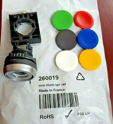 Baco Momentary Push Button Switch, Non Illuminated, Various Colour Insert Discs. • 9.90£