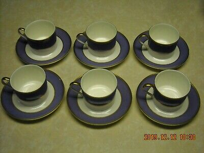 Mikasa Bone China Coffee / Tea Cups And Saucers - Violet * Set Of 6 • 35.74£