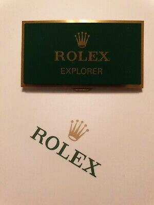 Rolex Explorer Retailers Display Plaque. *Fantastic Used Condition* **RARE** • 179.99£