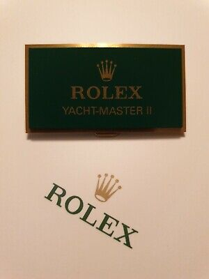 Rolex Yacht-Master II Retailers Display Plaque *Fantastic Used Condition* *RARE* • 189.99£