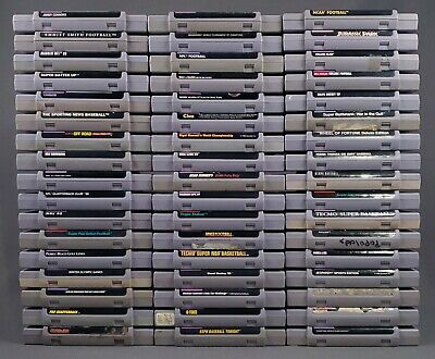 $ CDN254.66 • Buy SNES 51 GAME LOT Authentic Super Nintendo Untested