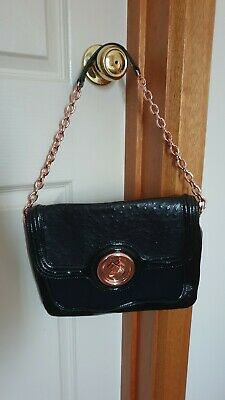 AU50 • Buy Mimco Black Leather Bag With Rose Gold Hardware