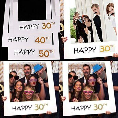 £3.55 • Buy 1 Piece Selfie Cardboard Photo Frame Party Props Birthday 18/21/30/40/50/60/80th