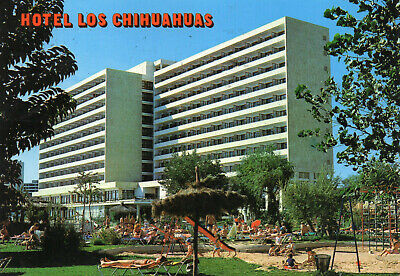 Postcard  Europe  Spain Mallorca Hotel Los Chihuahuas    Posted  • 3£
