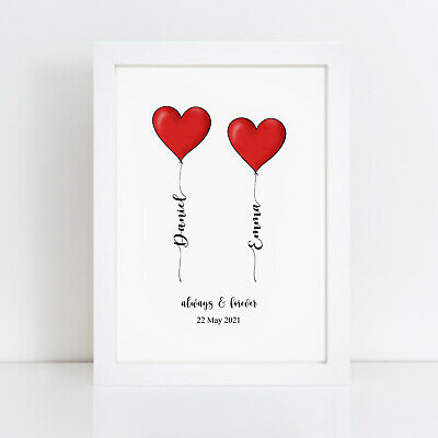 AU10.68 • Buy Personalised Print Valentines Day Gift Gifts For Him Her Girlfriend Husband