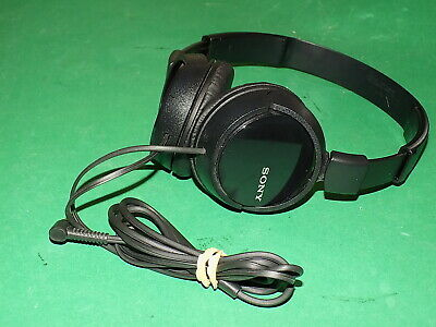 Sony Stereo Wired Headphones MDR-ZX310 Black Quality On-Ear Cups Folding • 10.99£