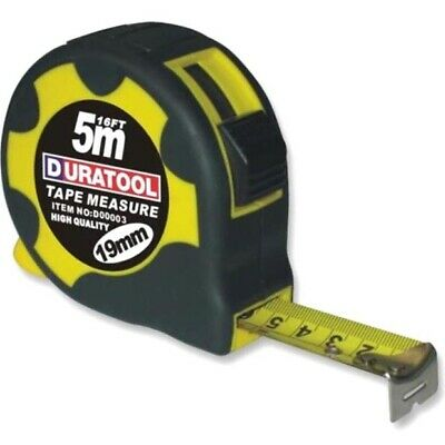 £4.99 • Buy Good Quality Steel Retractable Tape Measure With Rubber Case, 5m & 3m, FREE POST