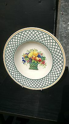 Villeroy & Boch Basket Pattern Large Soup Bowl 9.25  Discontinued Pattern • 25£
