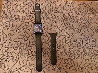 $ CDN164.05 • Buy Apple Watch Series 0 Zero EXTRAS 42mm Stainless Steel Black Sport Band MJ3U2LL/A