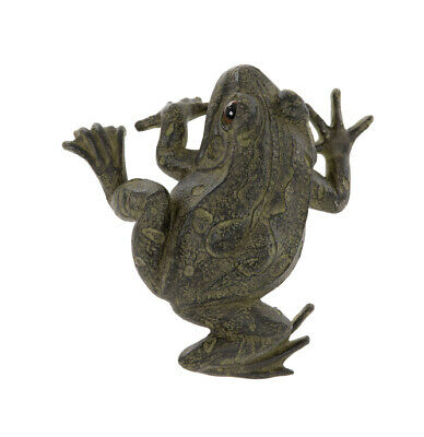 Fence Frog Garden Ornament - With Keyhole Fixing Point - 16 X 16 X 8cm • 11.95£