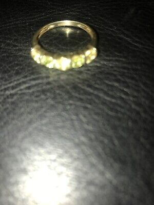 9ct Gold Ring With Stones Size P 2.14 G Great Valentine Gift  • 34£