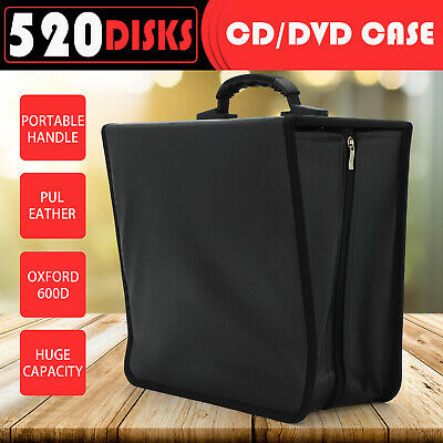 AU10.79 • Buy DVD Movie Storage Box Wallet Black Leather Folder Case Album DVD Manager