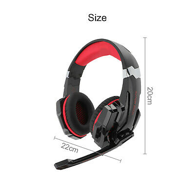 AU14.59 • Buy Gaming Headset LED MIC Volume Control Headphones For Laptop PS4  Xbox One Mic