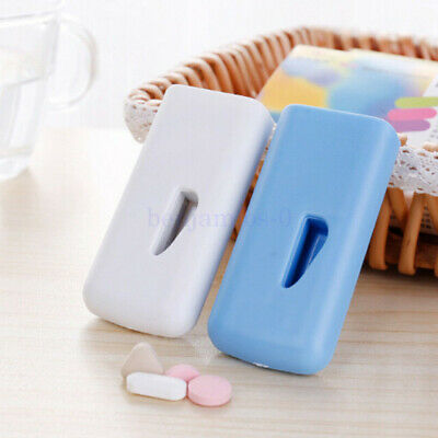 AU15.63 • Buy Tablet Pill Cutter Splitter Medicine Box Storage Case Crusher Grinder Divider AU