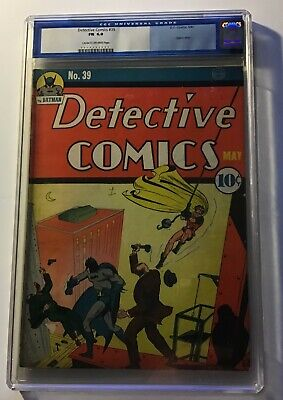 AU16000 • Buy Detective Comics #39 - 2nd Appearance Of Robin CGC 1940 6.0  GOLDEN AGE