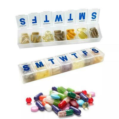 Weekly 7 Day Pill Box Daily Medicine Organiser Tablet Storage Dispenser Holder  • 2.85£