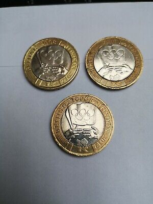 2008 Olympic Handover From Beijing 2 Pound Coins X 3 • 13.50£