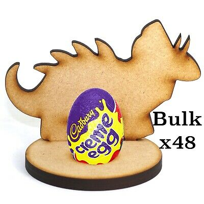 £39.99 • Buy Wooden MDF Easter Dinosaur Dino1 Craft Creme Egg X48 Holder Perfect Easter Gift