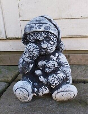 £45 • Buy  Latex Mould  Make Crying Teddy Bear Concrete Statue Garden Ornament IN STOCK B