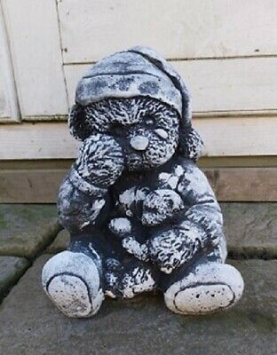 Latex Mould To Make Crying Teddy Bear Concrete Statue Garden Ornament IN STOCK • 45£