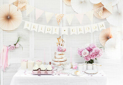 Bride & Groom Mr And Mrs Wedding Party Foil Banner Bunting Decorations Banners  • 2.89£