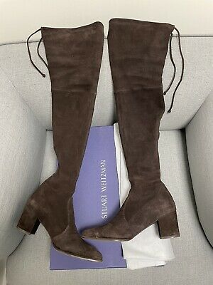 Stuart Weitzman Thighland Paneled Over The Knee Boots Uk4 EU37 US7 • 20£