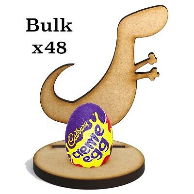 £39.99 • Buy Wooden MDF Easter Dinosaur Dino2 Craft Creme Egg X48 Holder Perfect Easter Gift