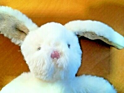£6 • Buy Small-Mamas And Papas-Bunny Rabbit-Cream-Soft Toy-Baby Comforter-Pink Nose-VGC