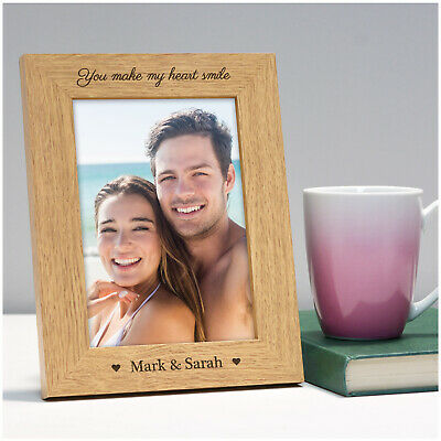 £11.95 • Buy PERSONALISED Anniversary Wood Photo Frame Gifts For Her Him Girlfriend Boyfriend