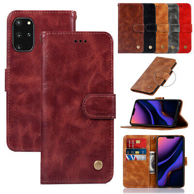 AU10.99 • Buy For Samsung J1 2 3 J4 J5 J6 J7 J8 Retro Flip Card Holder Case Wallet Phone Cover