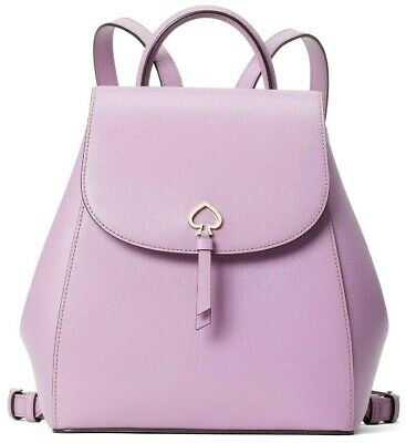 $ CDN146.72 • Buy Kate Spade Adel Lilac Leather Medium Flap Backpack WKRU6412 NWT $299 Retail FS