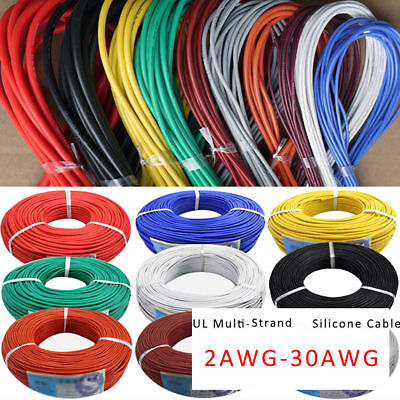 AU22.13 • Buy 2/4/6/7/11/15/17-30AWG 0.08mm UL Strand Silicone Soft Cable 600V 200℃ RC Wire