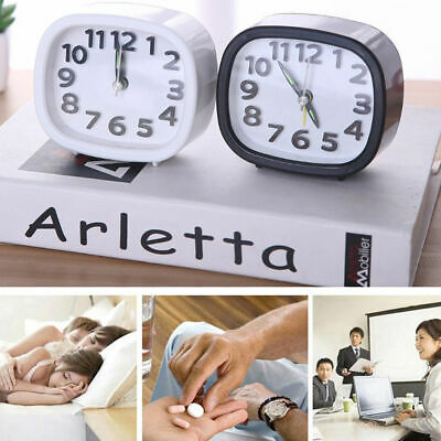 AU14.24 • Buy Silent Quartz Alarm Small Clock Battery Operated Bedside Bedroom Snooze Decor AU