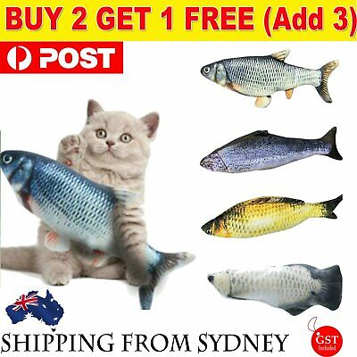 AU12.29 • Buy Electric Dancing Fish Kicker Cat Toy Wagging Realistic Moves USB Rechargeable AU