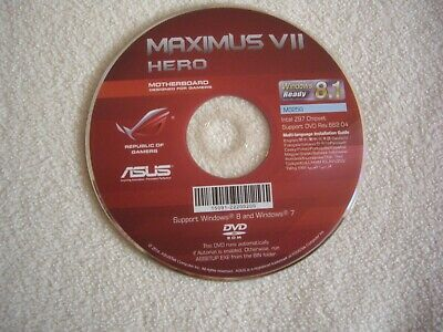 Asus Maximus VII Hero Mother Board Installation Disc Windows 7 & 8 • 9.99£
