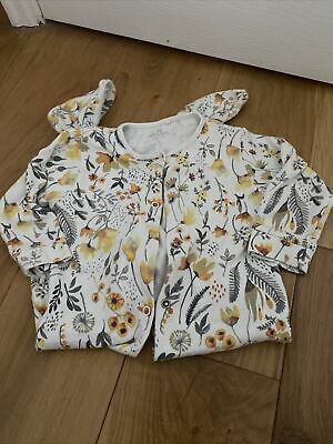 Next Baby Girls 9-12 Months Floral Print Sleepsuit • 2£