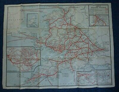 Great Western Railway: G.W.R.: Map Showing Main And Branch Lines: Circa 1920s • 2.50£