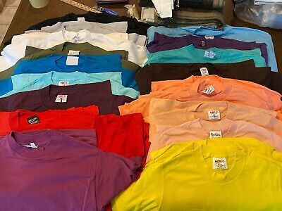 $ CDN1012.40 • Buy Vintage Blank T-Shirt LOT Of 70 NOS DEADSTOCK -- Single Stitch 1970s 1980s Tees