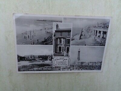 55 Lord Street Blackpool Greetings From The North Shore RP Postcard • 4.45£